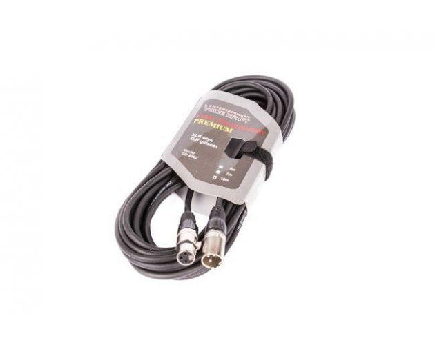Kabel XLR M - XLR F black VK 8002 10m