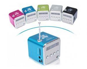 Mobilne Mini Radio z cyfrowym głośnikiem, mp3, gniazdem microSD i USB