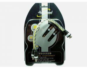Rozdzielacz przewodów sygnałowy RCA-Y Y-męski: 2 wtyki / 1 gniazdo
