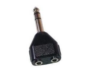 Przejściówka Wtyk 6.3mm na dwa gniazda 3,5mm