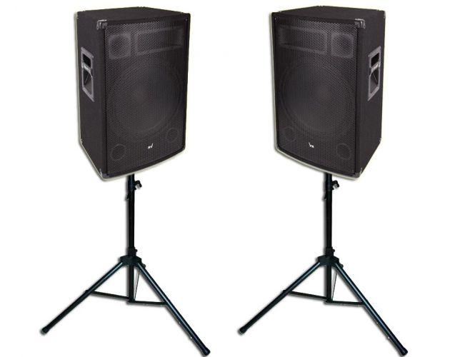 Kolumny Estradowe Voice Kraft 1400W + Statywy Głośnikowe