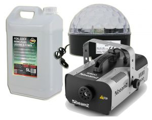 Wytwornica Dymu S900 + Kula LED Disco + 5l Płyn do ADJ Light