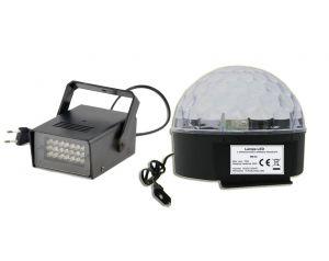 Kula LED Disco + Stroboskop