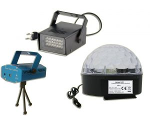 Zestaw Świateł Efekt LED + Laser + Stroboskop