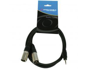 Przewód 2x XLR M - JACK 3,5mm stereo 1,5m