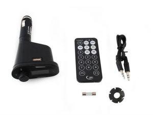 Transmiter FM MP3 USB SD AUX in Obrotowy