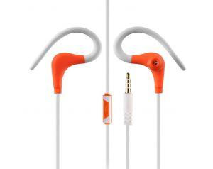 Słuchawki 3.5mm HF GT SPORT pomarańczowo-białe