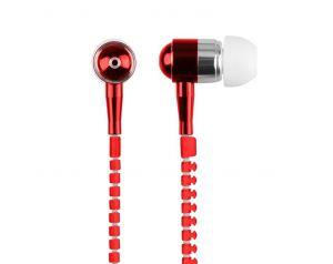 Słuchawki 3.5mm ZIPPER czerwone