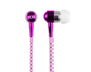 Słuchawki 3.5mm ZIPPER różowe