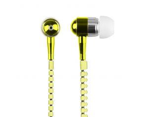 Słuchawki 3.5mm ZIPPER żółty
