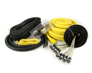 Hollywood PRO-40 - zestaw kabli OFC do samochodowego wzmacniacza