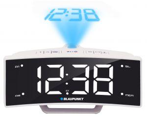 Radiobudzik z projektorem i ładowaniem USB Blaupunkt CRP7WH