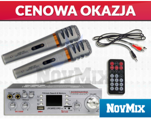 Wzmacniacz Voice Kraft VK 5500 + Mikrofony KARAOKE VK 3000