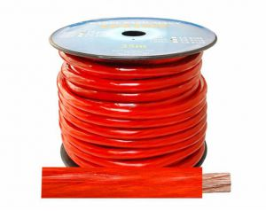 Kabel zasilający 2GA/12mm CCA, 5m czarny
