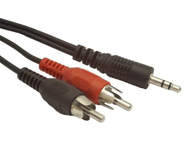 Kabel Stereo Jack 3,5mm - 2xRCA 2,5m