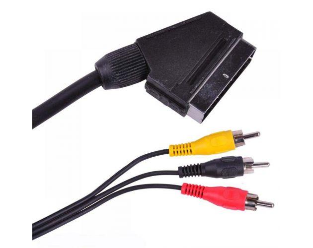 Kabel EURO - 3x RCA 3m