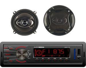 Radioodtwarzacz samochodowy Audiomedia AMR117 + Zestaw Głośników DBS40