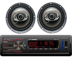 Radioodtwarzacz samochodowy Audiomedia AMR117 + Zestaw Głośników DBS65