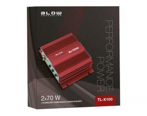 Wzmacniacz samochodowy BLOW TL-X100 2x70W