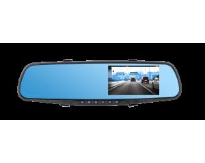 Lusterko samochodowe Peiying z rejestratorem, kamerą cofania i czujnikiem parkowania