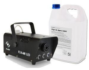 Wytwornica Dymu Flash FLM-600 LED + Baniak Płynu
