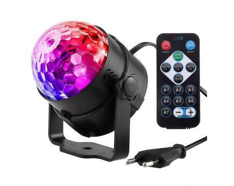 Kula Disco LED RGB z Pilotem