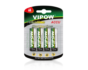 Baterie Alkaliczne VIPOW LR6 4szt / blister