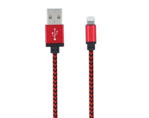 Kabel Forever do iPhone 8-PIN pleciony czerwony