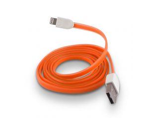 Kabel Forever do iPhone 8-PIN silikonowy płaski pomarańczowy