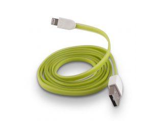 Kabel Forever do iPhone 8-PIN silikonowy płaski zielony
