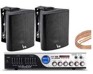 Nagłośnienie Lokalu wzmacniacz K1 + 2szt głośniki DS-501