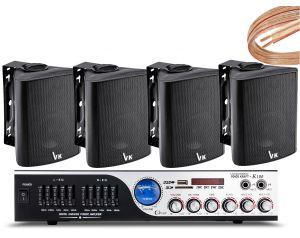 Nagłośnienie Lokalu wzmacniacz K1 + 4szt głośniki DS-501
