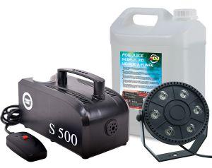 Zestaw Wytwornica Dymu S500 LED Par Mini + Płyn 5l