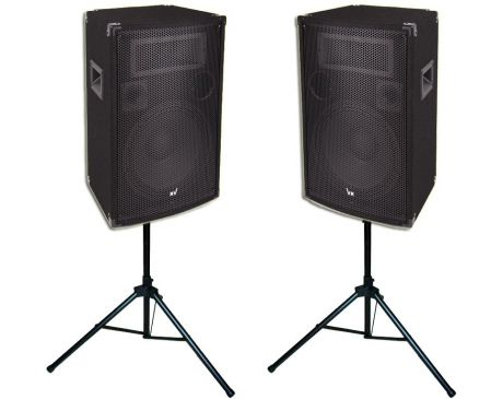 Kolumny Estradowe Voice Kraft 1200W + Statywy Głośnikowe