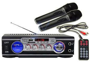 Wzmacniacz Karaoke USB SD + Mikrofony