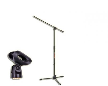 Statyw Mikrofonowy wraz z uchwytem mikrofonowym