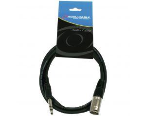 Kabel XLR M - 6.3 jack stereo 3m