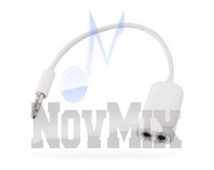 Kabel do podłączenia słuchawek z mikrofona do pojedynczego wejścia MiniJack 3,5mm
