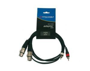 Kabel 2x XLR F - 2x RCA 3m