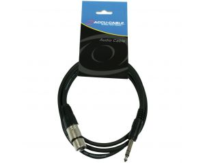 Kabel XLR F - 6.3 jack stereo 3m