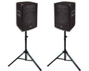 Kolumny Estradowe Voice Kraft 600W + Statywy Głośnikowe