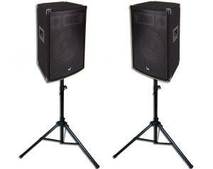 Kolumny Estradowe Voice Kraft 800W + Statywy Głośnikowe