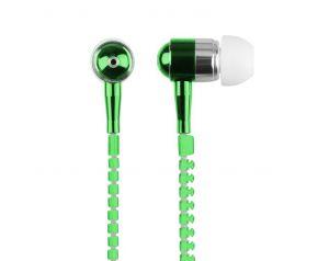Słuchawki 3.5mm ZIPPER zielone