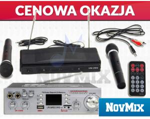Wzmacniacz Voice Kraft VK 5500 + Zestaw Mikrofonów Bezprzewodowych