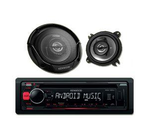 Radioodtwarzacz Kenwood KDC-100UR + Głośniki