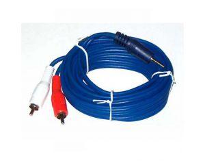 Kabel JACK 3,5mm - 2 RCA 10m